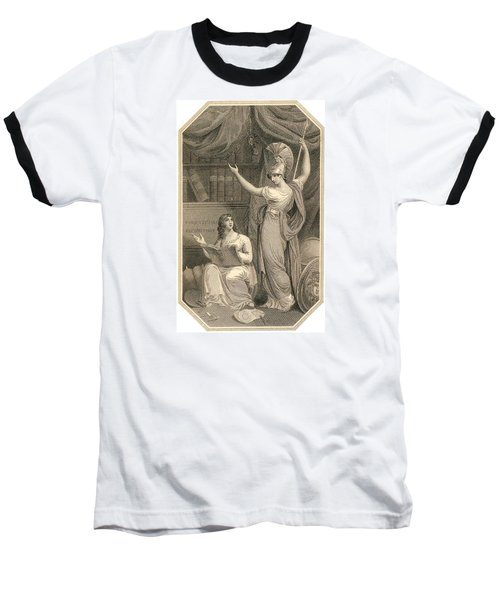 Minerva Directing Study To The  Attainment Of Universal Knowledge Baseball T-Shirt