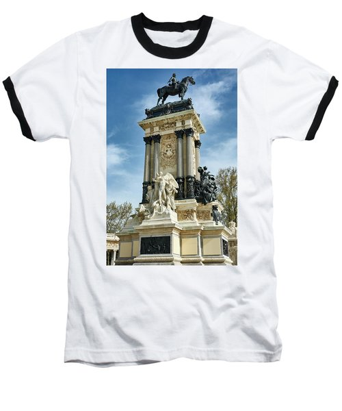 Monument To King Alfonso Xii At Retiro Park In Madrid, Spain Baseball T-Shirt