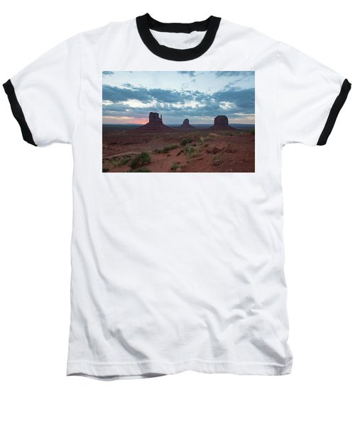 Monument Valley Before Sunrise Baseball T-Shirt