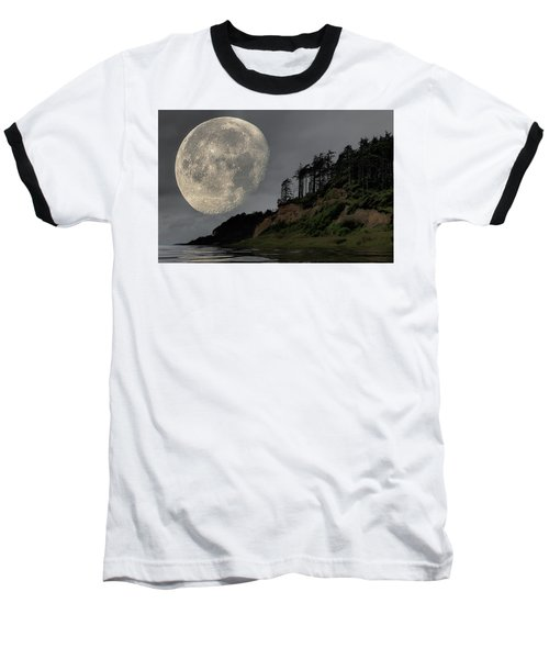 Moon And Beach Baseball T-Shirt
