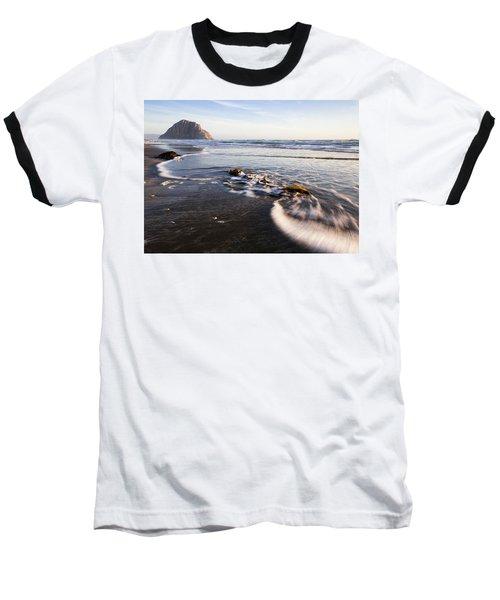 Morro Rock Ebb Tide Baseball T-Shirt