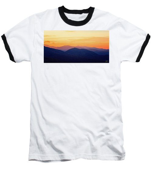 Mountain Light And Silhouette  Baseball T-Shirt