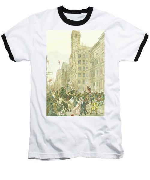 New Years Mummers On Chestnut Street Baseball T-Shirt