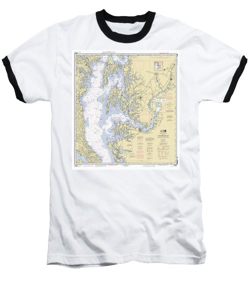 Chesapeake Bay, Cove Point To Sandy Point Nautical Chart 12263 Baseball T-Shirt