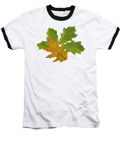 Oak Leaves Patern Baseball T-Shirt