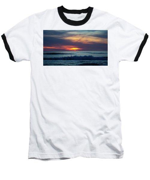 Baseball T-Shirt featuring the photograph Obx Sunrise by Lora J Wilson