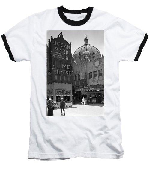 Ocean Park Pier 1920 Baseball T-Shirt