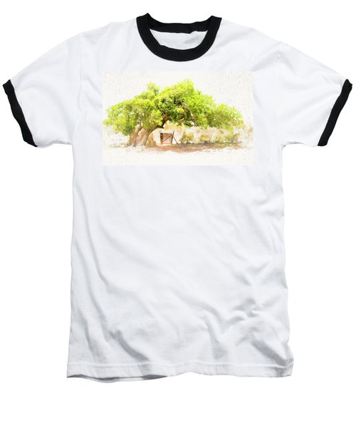 Old Leaning Tree At Sandy Hill  Anguilla Baseball T-Shirt