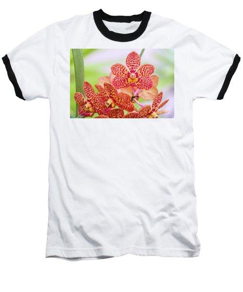 Orange Spotted Orchids Baseball T-Shirt