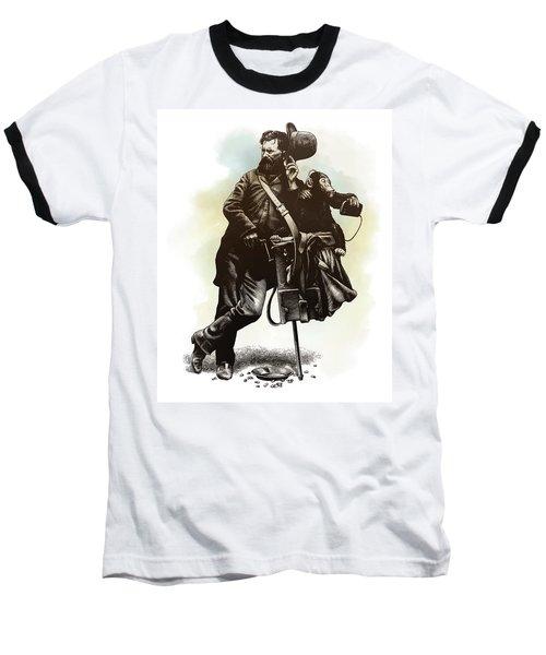 Organ Grinder Baseball T-Shirt