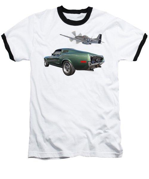 P51 With Bullitt Mustang Baseball T-Shirt