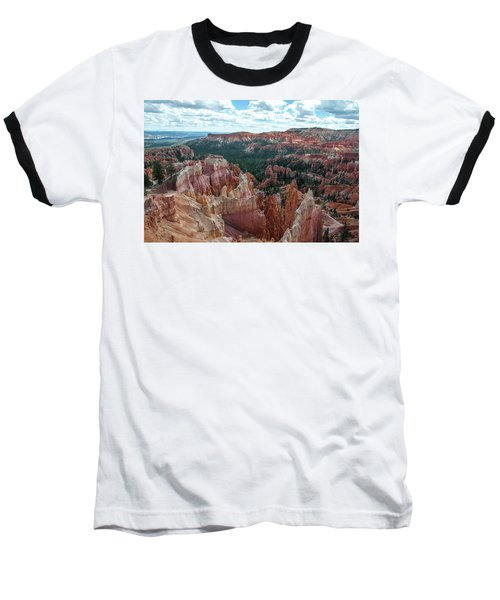 Panorama  From The Rim, Bryce Canyon  Baseball T-Shirt