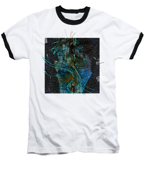 Peacock Feathers Baseball T-Shirt