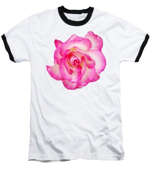 Pink Halo Rose Baseball T-Shirt