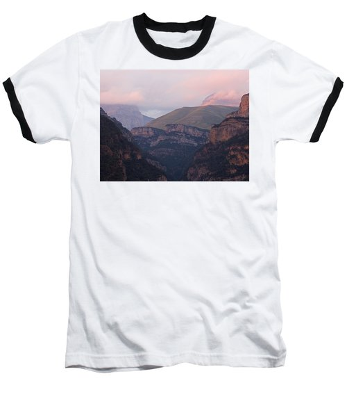 Pink Skies In The Anisclo Canyon Baseball T-Shirt
