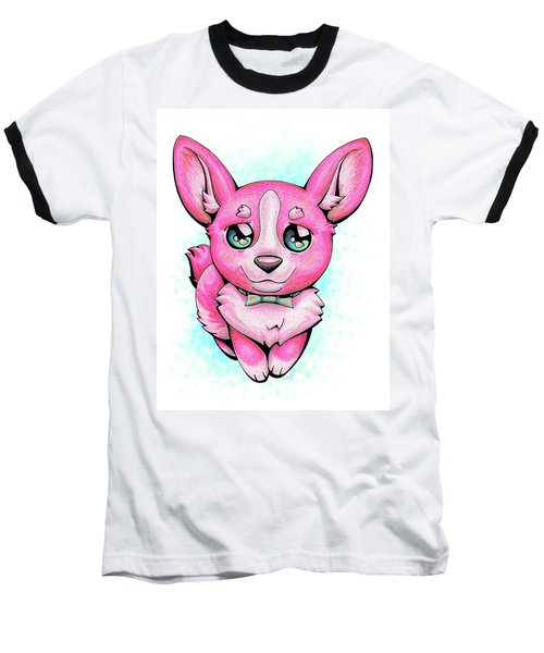 Pinkie Corgi Baseball T-Shirt