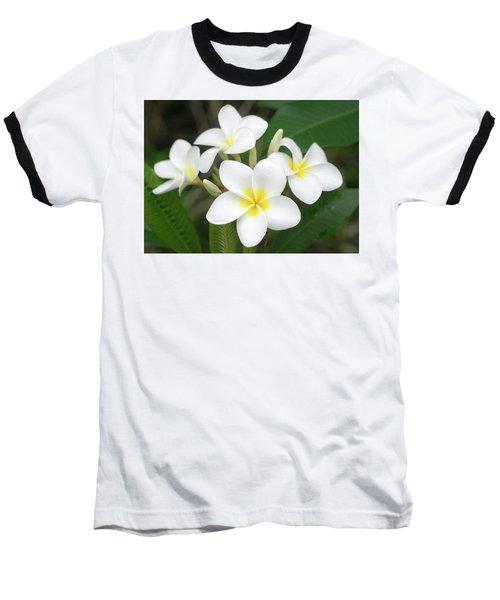 Pleasing Plumeria Baseball T-Shirt