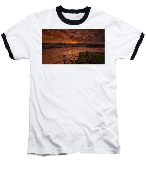 Porthmeor Sunset 2 Baseball T-Shirt