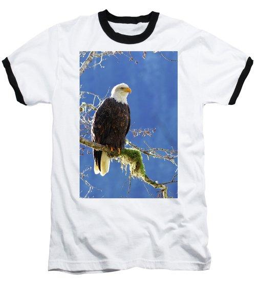 Portrait Of A Backlit Bald Eagle In Squamish Baseball T-Shirt