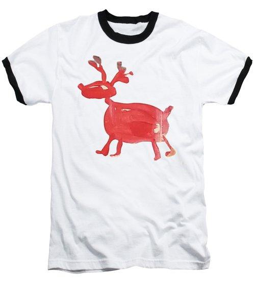 Red Reindeer Baseball T-Shirt
