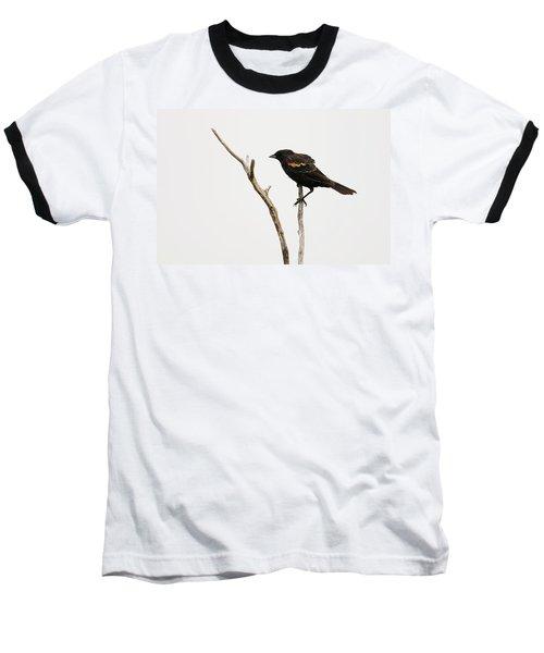Red Winged Blackbird Baseball T-Shirt