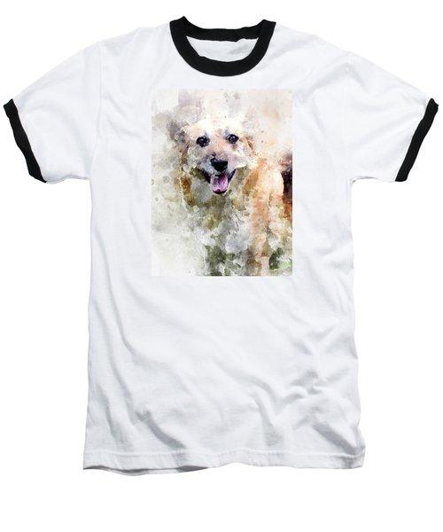 Baseball T-Shirt featuring the digital art Remember The Four-legged Smile by Eduardo Jose Accorinti