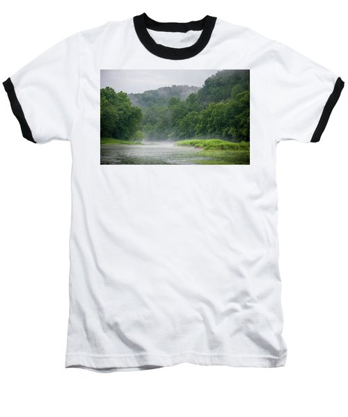 River Mist Baseball T-Shirt