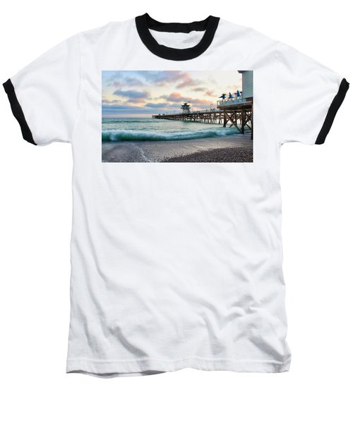 A San Clemente Pier Evening Baseball T-Shirt
