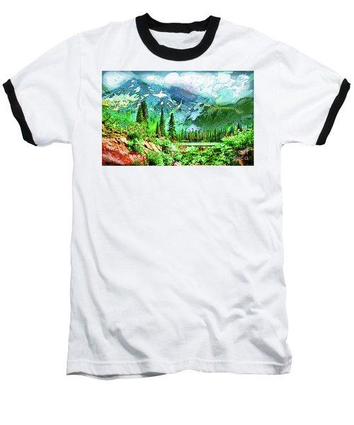 Scenic Mountain Lake Baseball T-Shirt