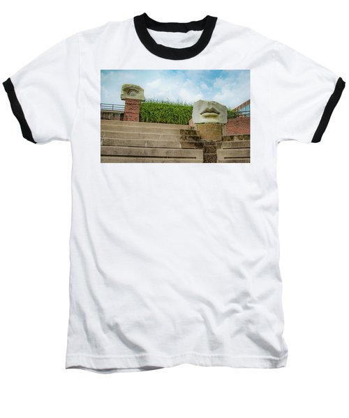 Baseball T-Shirt featuring the photograph See No Evil Speak No Evil by Lora J Wilson