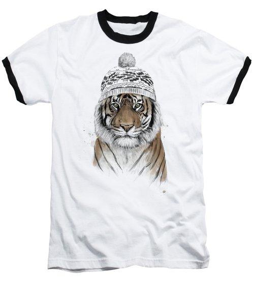 Siberian Tiger Baseball T-Shirt