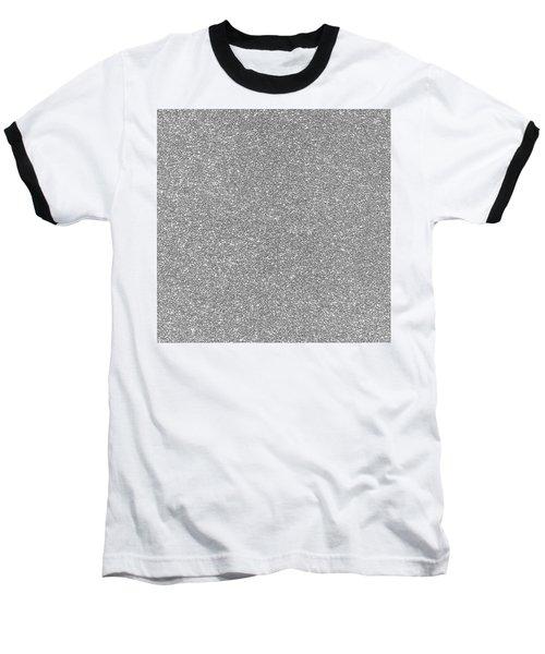 Silver Glitter  Baseball T-Shirt