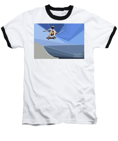 Skateboarder Baseball T-Shirt