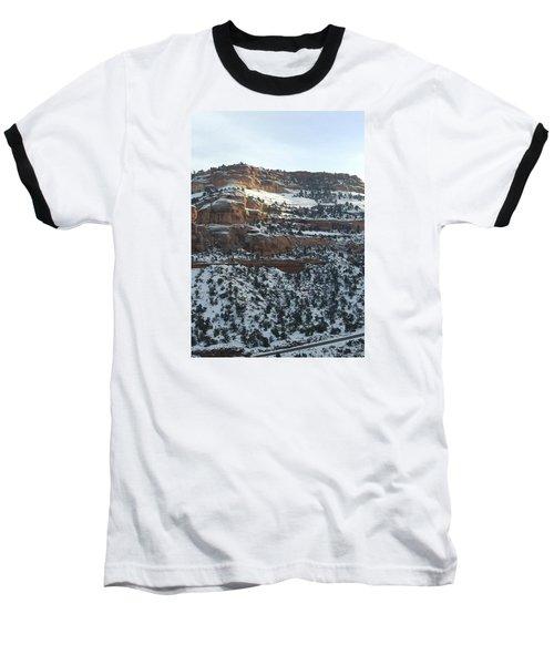 Snow Steps Baseball T-Shirt