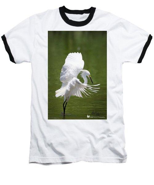 Snowy Dance Baseball T-Shirt
