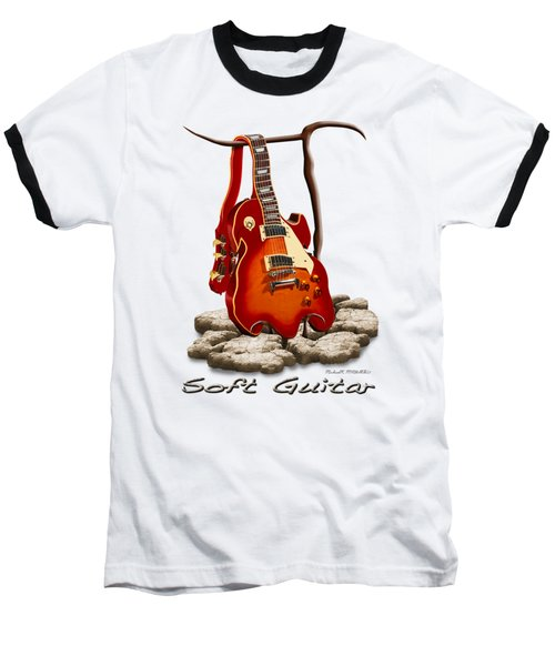 Soft Guitar - 3 Baseball T-Shirt