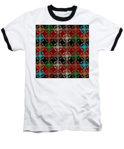 Southwestern Sun Tile Baseball T-Shirt