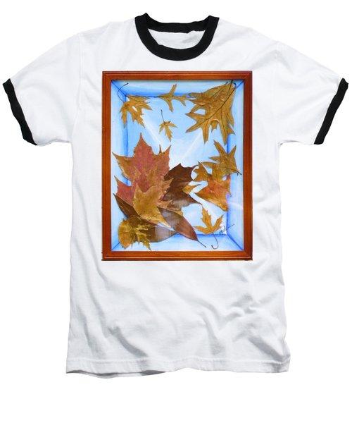Splattered Leaves Baseball T-Shirt