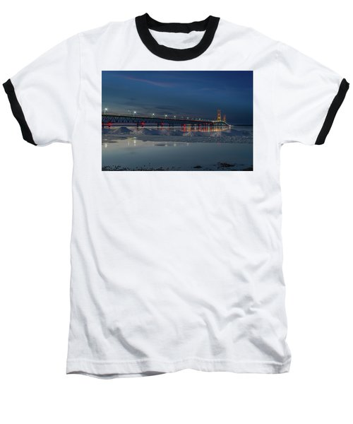 Spring Evening At The Mackinac Bridge Baseball T-Shirt