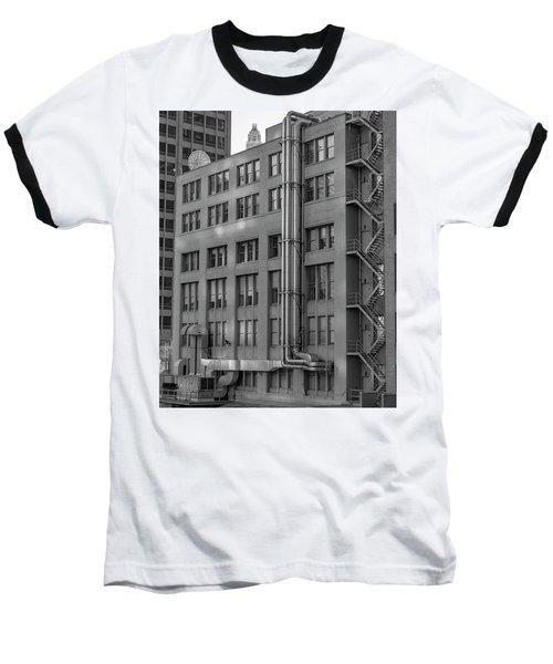 Squares And Lines Baseball T-Shirt