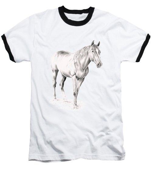 Standing Racehorse Baseball T-Shirt