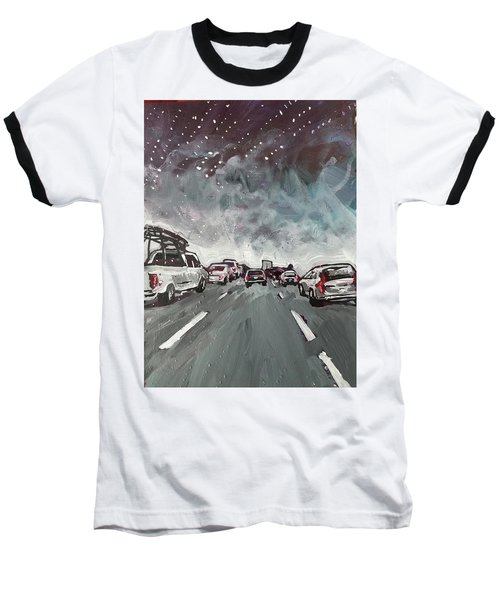 Starry Night Traffic Baseball T-Shirt