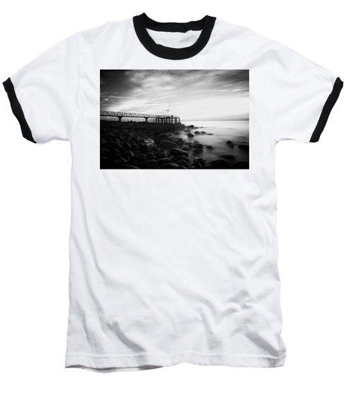 Sunrise In Black And White Baseball T-Shirt