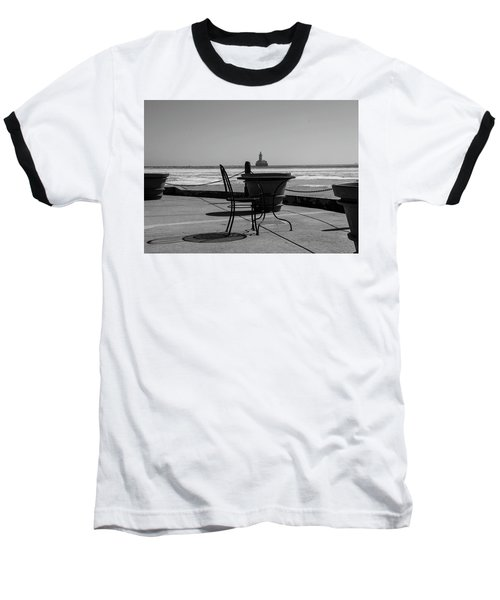 Table For One Bw Baseball T-Shirt