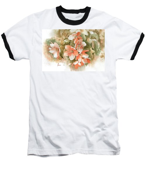 Tender Blossom Of Apple Tree Baseball T-Shirt