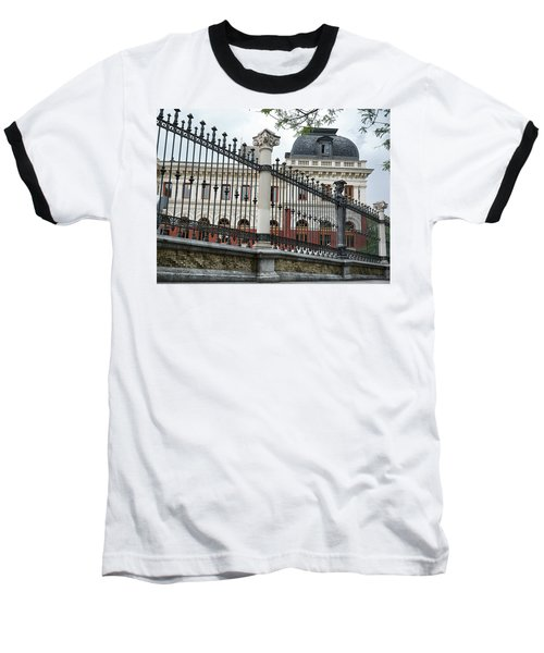 Baseball T-Shirt featuring the photograph The Back Of The Ministry Of Agriculture Building In Madrid by Eduardo Jose Accorinti
