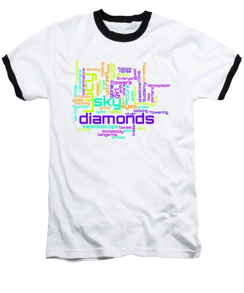 The Beatles - Lucy In The Sky With Diamonds Lyrical Cloud Baseball T-Shirt