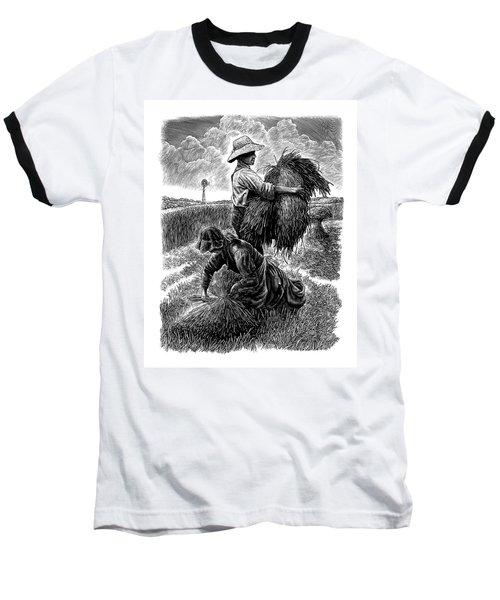 The Harvesters - Bw Baseball T-Shirt