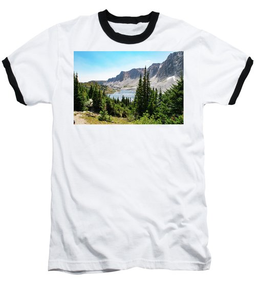 The Lakes Of Medicine Bow Peak Baseball T-Shirt