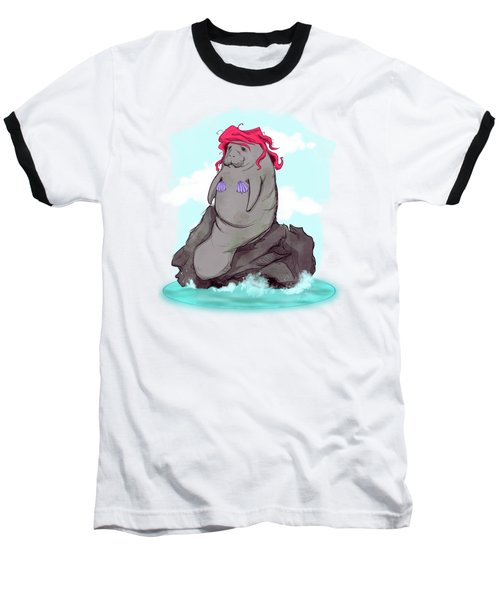 The Little Manatee  Baseball T-Shirt